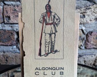 Ephemera from the Algonquin Club - 1905 - An Exclusive Boston Social Club