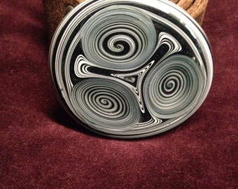 Black and White Belt Buckle