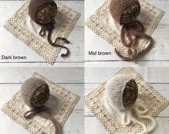Newborn knitted Bonnets