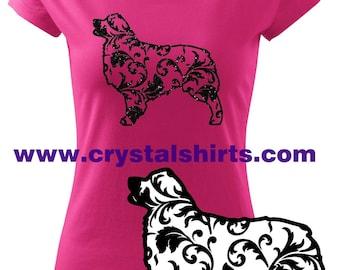 Aussie / Australian Shepherd Silhouette T-shirt