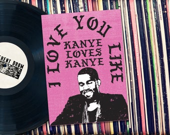"Kanye Loves Kanye Valentine Printable 5x7"" Card. INSTANT DOWNLOAD."