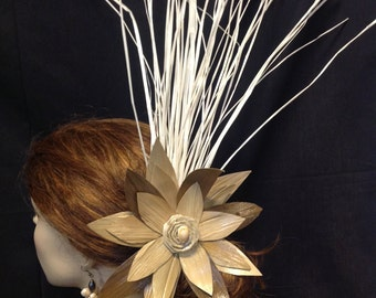 "7.5""-8"" Extra Large Lauhala and Niau Hair Clip"