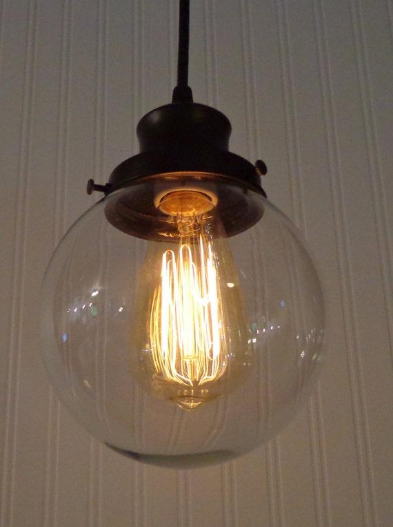 Clear glass pendant light chandelier lighting fixture kitchen island bathroom modern flush mount modern ceiling by lampgoods
