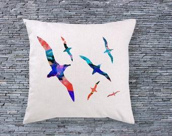 Birds Art Pillow - Art Pillow Cover - Art Throw Pillow - Fashion Pillow