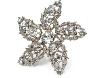 Vintage Bogoff Diamante Rhinestone Star Brooch - Sparkly Jewelry, Wedding Jewelry, Vintage Brooch, 1950s Mid Century, Large Statement Brooch