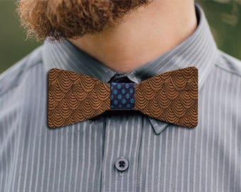 Fuji wooden bow tie