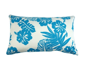 "Throw pillow with flowers ""Hawaii"""