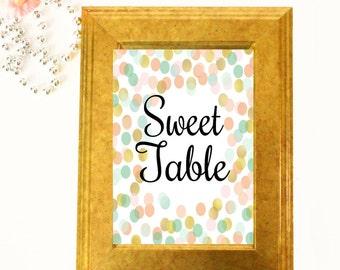 Sweet Table Sign - Wedding Table Signs -  Wedding Table Decor - Three 4x6 Wedding Signs