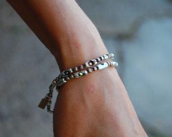 Sterling  Chain Bracelet | The Aurora | Womens beautiful Swarovski Crystal bracelet, necklace or anklet