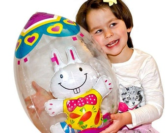 """19"""" Inflatable Easter Egg with Bunny"""