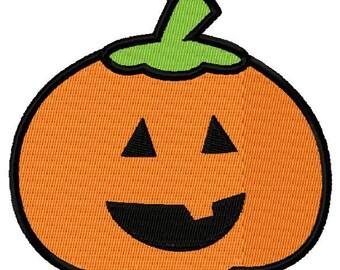 Jack-o-lantern Pumpkin Embroidery Design - Instant Download