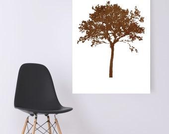 WATERCOLOR- Beige  Acacia Tree -Digital Wall Art