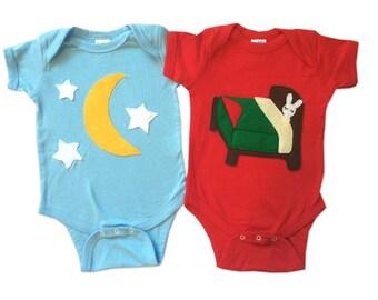 Good Night... Infant Bodysuits Double Combo - Star & Bunny