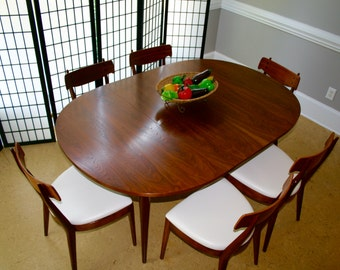 Drexel Declaration Dining Table And Six Chairs Mid Century Modern