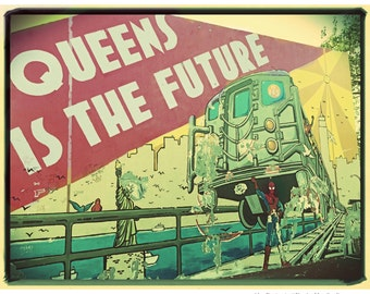 Queens, Mural, Photography, Spider Man, Jackson Heights, Future, Print, NYC, FREE SHIPPING!