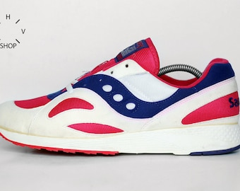 NOS 1994 Vintage Saucony Blaze NC sneakers / Kids Deadstock trainers / Womens Athletic shoes / Made in Taiwan 90s