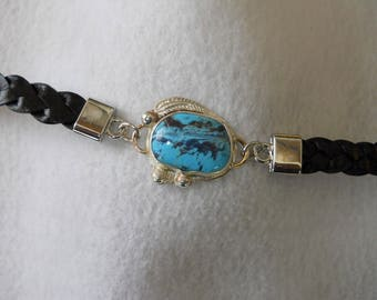 Mohave Turquoise Bracelet with Leather Strap