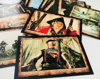 1985 Goonies Trading Cards, SET OF 50, Steven Spielberg Funny Fathers Day Gift, 80s Kids Adventure Movie, Chunk, Sloth, Baby Ruth