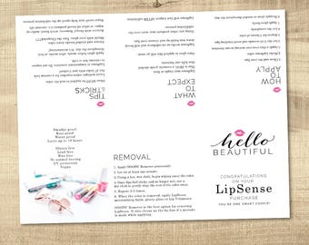 LipSense foldable brochure - how to apply - what to expect - lipsense tips and tricks - printable welcome LipSense file - INSTANT DOWNLOAD