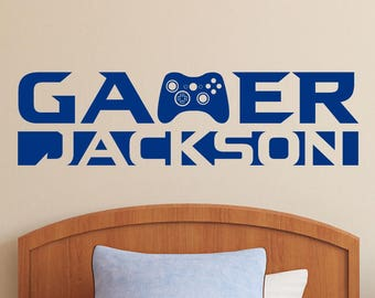 Personalized Gamer Name | Custom Vinyl Wall Decal