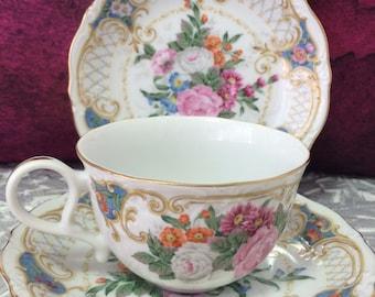 Vintage porcelain 'Amore' tea cup, Andrea by Sadek, Japan
