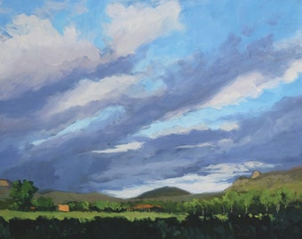 Morning of Our First Day - Philmont - New Mexico - Original Oil Landscape Painting