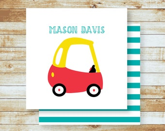 Personalized Calling Cards / Gift Tags / Kids / Car / Toy Coupe