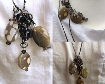 Agate Pendant Necklace, Handmade Pendant Necklace, Edinburgh Jewellery, Gemstones to Glamour Jewellery, Something Different