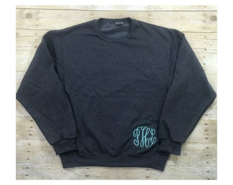 Monogram Pullover Sweatshirt   Hip Monogram Sweatshirt   Monogrammed Sweatshirt