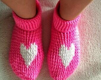 Crochet Slippers Women Slippers Sock Slippers House Slippers