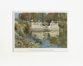London:Kensington Gardens,original E.W. Haslehust print, 1925 - iconic London image