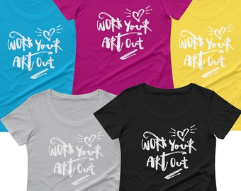 Work Your Art Out graphic tee
