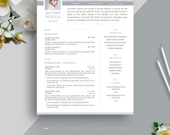 Creative Resume Template, Cover Letter Template for MS Word | Professional, Modern & Elegant CV Template | A4 + US Letter | Instant Download