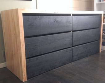 Modern Dresser with burnt drawer fronts