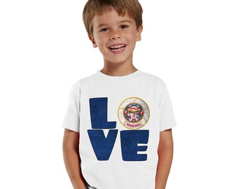 Love Minnesota kids shirt