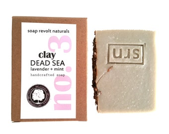 Dead Sea Clay with Lavender and Mint Soap, Organic Soap, All Natural Soap