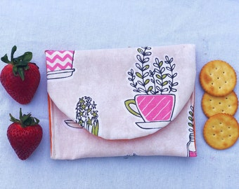 succulent  Reusable Snack bag