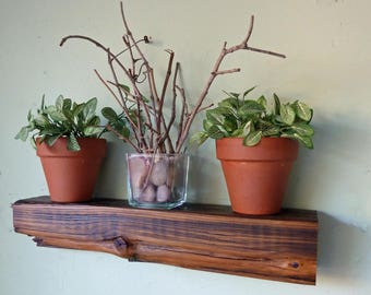 Reclaimed Wood Floating Shelf, Beam Shelf, Rustic Shelf, Floating Shelf