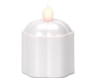 Set of 3 Frosted LED Votive Candles 100 Hours