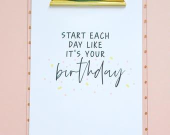 Birthday A4 Print