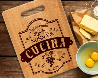 Nonna's Cucina/Cutting Board/Personalized/Gift/Cutting board/Christmas/Birthday/Mother's Day/Bamboo