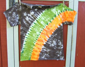 Youth Large Tie Dye T-shirt - Woodland Arc - Ready to Ship