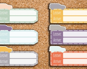 Road Trip Travel Tag Planner Stickers for 2017 Inkwell Press IWP-DC13
