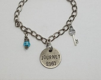Journey - bracelet - charms - chain - key