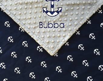 Anchor baby blanket etsy anchor baby blanket nautical anchor baby blanket grey minky anchor blanket nautical theme negle Gallery