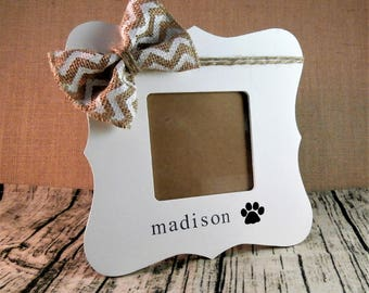 Personalized dog frame, Dog gifts, pet memorial frame, paw print frame