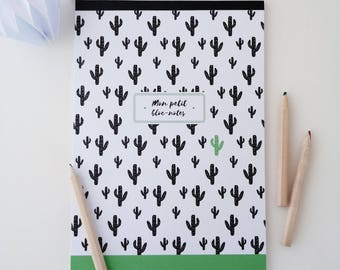 Illustrated Cactus 14x20cm Notepad