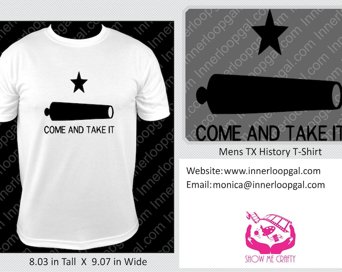 Come And Take It Texas History T-Shirt – Texas Historical Flag T-Shirt – Unisex Printed T