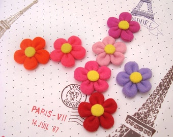ITH Felt & Fabric Flower petals Template embellishment DIY PDF Tutorial Instant Download In The Hoop Embroidery Design