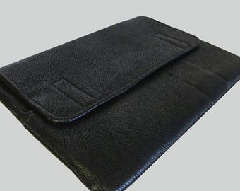 iPad Sleeve, iPad Pro Sleeve, iPad Mini Sleeve, iPad Air Sleeve, iPad 9.7, iPad 10.5, iPad 12.9, Faux Black Leather